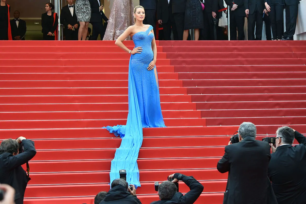 "US actress Blake Lively poses as she arrives for the screening of the film ""The BFG"" at the 69th Cannes Film Festival (Credit: AFP/Getty Images)"